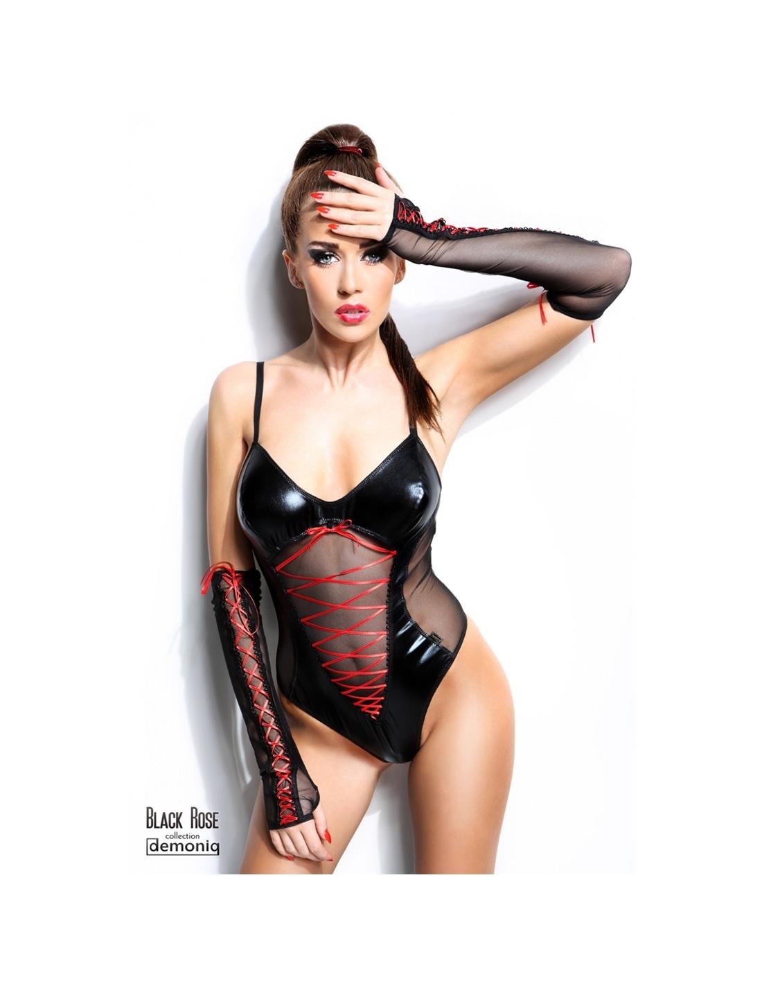 Body Evelyne Demoniq Preto - 36-38 S/M - PR2010339672
