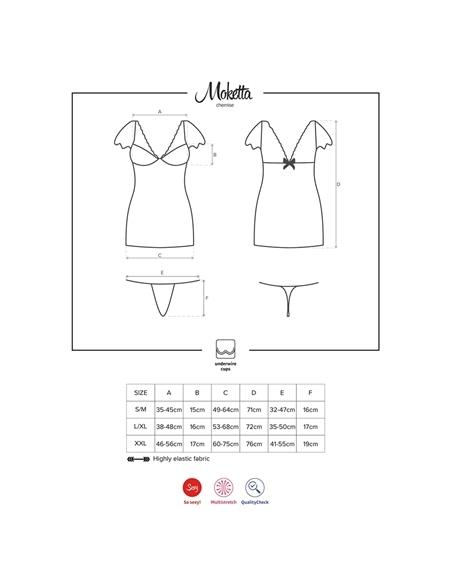 Camisa de Noite e Tanga Moketta Obsessive - 36-38 S/M - PR2010343649