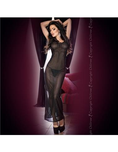 Camisa de Noite e Tanga Cr-4137 Preta - 36 S - PR2010346091