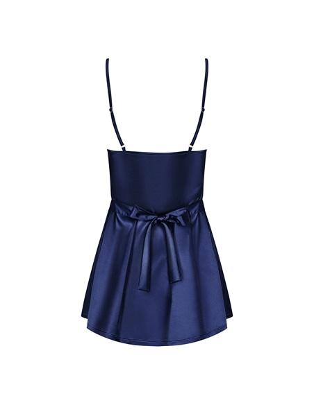 Camisa de Noite e Tanga Satinia Obsessive Azul - 36-38 S/M #1 - PR2010346249